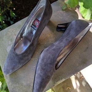 Anne Klein Grey Suede Pumps Shoes 8M
